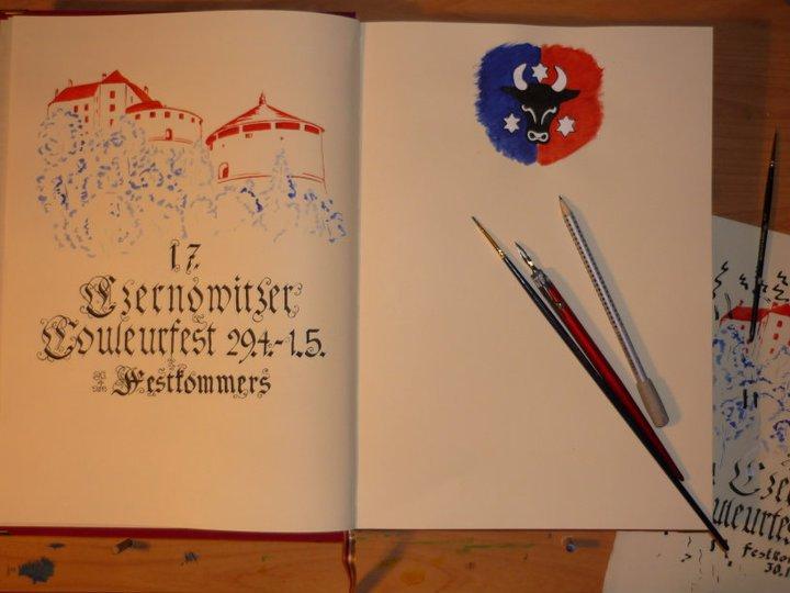 "Buchillustration ""Czernowitzer Couleurfest"""