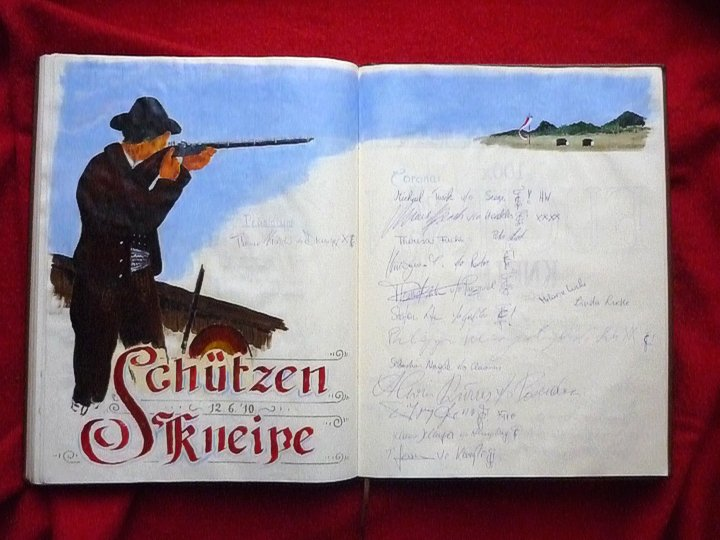 """Buchillustration """"Schützenkneipe"""""""